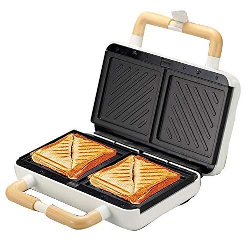 CHENMAO Sándwich/máquina, Fabricante de gofres 3 en 1, 2 tostadoras de Rebanada Ajustable a Temperatura y Placa Antiadherente, se Puede Utilizar para Hacer Waffles, sándwiches y Otro Desayuno