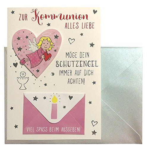 Glückwunschkarte Zur Kommunion alles Liebe Schutzengel Karte Geldgeschenk Grußkarte