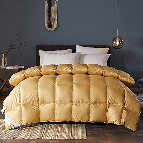 CHOU DAN Double Bed Duvet,White Goose Down And White Duck Down 2020 New Three-Dimensional Quilt Thickened Warm Winter Quilt-Turmeric_200x230cm 4 Kg