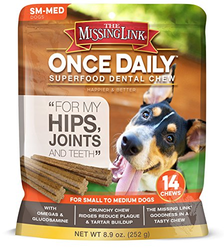 The Missing Link Once Daily Hip & Joint Superfood Dental Chew - Small/Meduim Dog