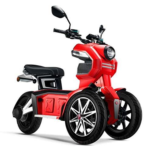 Doohan iTank eGo2 Elektroroller 1560W - 45km/h E-Scooter Elektro-Trike 2 Personen E-Roller 3-Rad Elektromobil EU-Zulassung Rot