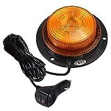 20LED Rotativa Luz de Advertencia Estroboscópica Homologada E9 10 Modos de Parpadeo Impermeable...