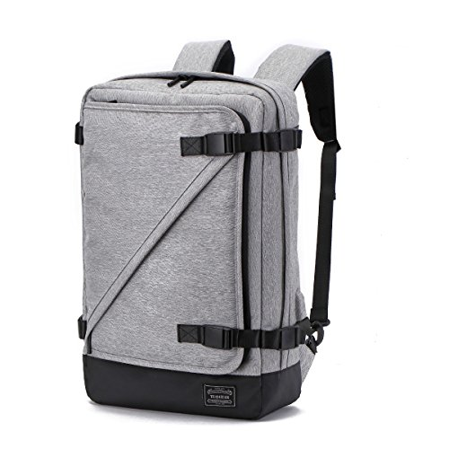 Laptop Backpack 15.6 Inch KHDZ Men Professional Business Bag 3 in 1 Convertible Messenger Rucksack Briefcase with USB Charging Port, Waterproof Slim Large for Work College High School Travel, Grey