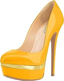 AOOAR Women's Double Platform High Heel Pumps