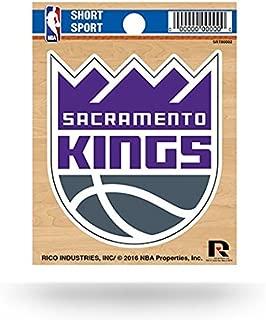 """NBA Sacramento Kings Short Sport Decal, 3.5""""x 4.5"""", Multicolor"""