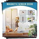 Aoocan Magnetic Screen Door - Door Net Screen with 26 Magnets Heavy Duty Mesh Curtain, Door Screen Magnetic Closure. Fits Door Size up to 34' x 82' Keeps Bugs Out