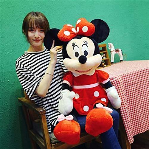 Muñeca de Trapo de Mickey Minnie púrpura, Almohada de muñeca de Trapo de Pareja de Mickey Mouse, Regalo de cumpleaños de Vacaciones Vestido Rojo Minnie 50CM