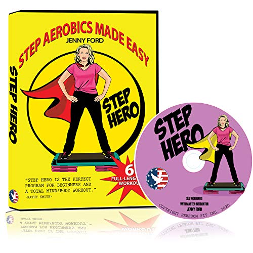 Step Hero DVD | Step Aerobics Made Easy for Beginners | with Master Instructor Jenny Ford | Cardio Fitness Toning Exercise Program | Easy to Follow | Platform or Bench Required | Total Body Fitness