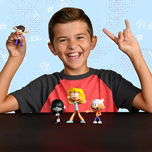 """The Loud House Figure 4 Pack - Lincoln, Lori, Lucy, Luna - Action Figure Toys from The Nickelodeon TV Show - 3"""" Each - Ages 4+"""