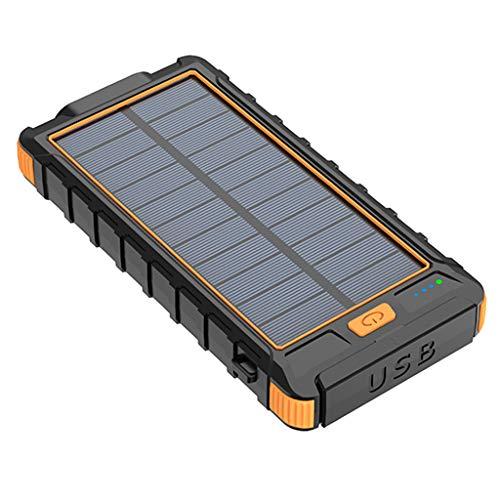 balikha Cargador Externo Portátil Impermeable del Banco 10000mAh de La Energía Solar - Naranja