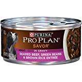 Purina Pro Plan Gravy Wet Dog Food, SAVOR Seared Beef, Green Beans & Brown Rice Entree - (24) 5.5...
