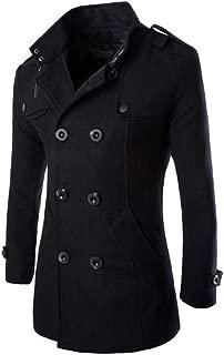 Fashion Men's Wool Coat Winter Trench Dust Coat Wind Outwear Overcoat Long Jacket