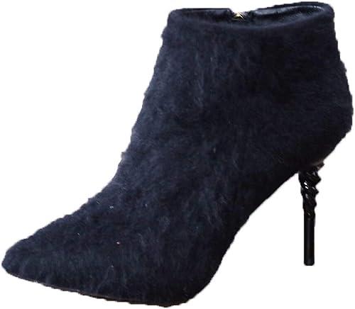SFSYDDY Chaussures Populaires Hauts Talons avec 10 Cm Sexy des Spirales Et Mes Bottes.