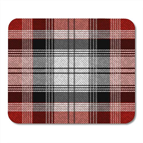 Muismat wit Keltisch groen abstract tartan plaid patroon geruit rood Brits ruit muismat