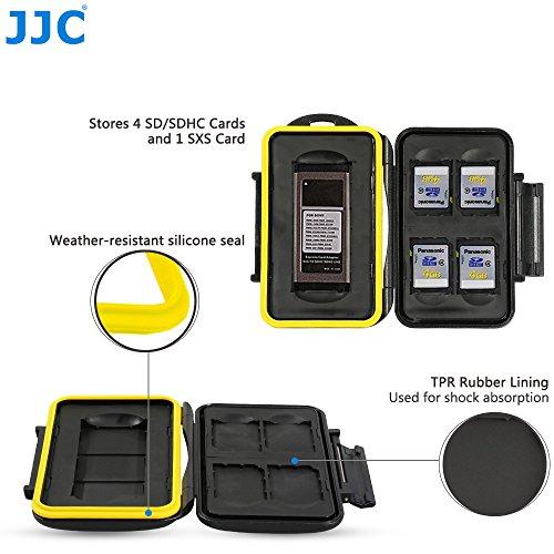 JJC Multi Memory Card Case MC-SD/SXS5 Speicherkarten Schutzbox für 1 Stück SXS und 4 Stück SDHC Cards- extreme Wasserdicht und Stoßfest Box Safe Tasche Etui Aufbewahrungsbox Hülle