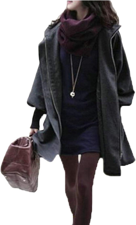 Esast Women's Winter Warm Pea Coat Hoodie Overcoat Outwear Jackets