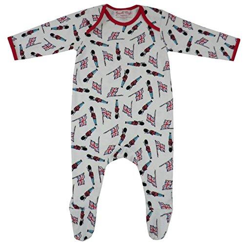 Powell Craft Baby Boys Soldier BabyGrow. 0-12 meses.Rojo rojo red,cream Talla:6-12 meses