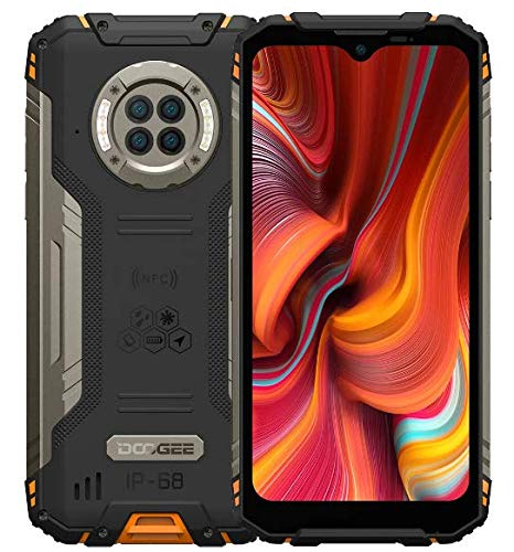 Rugged Smartphone IR Vision Notturna DOOGEE S96 PRO, Helio G90 8GB+128GB, Fotocamera Quattro 48MP (Infrarossi 20MP), Cellulare Robusto IP68 6,22'', Batteria 6350mAh (Ricarica Wireless) NFC Arancia