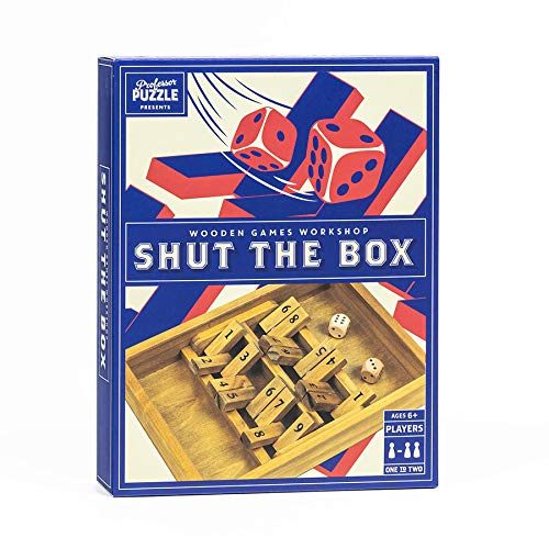 Shut The Box - Traditional Wooden 2 Player Board Game for Adults and Family. Wooden Shut The Box by...