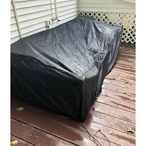 GZHENH Cubierta Impermeable para Muebles De Jardín, Anti-UV A Prueba De Viento Paño De Sombra De Terraza Aplicar para Interior Y Exterior, 10 Tamaños (Color : Black, Size : 325x208x58CM)