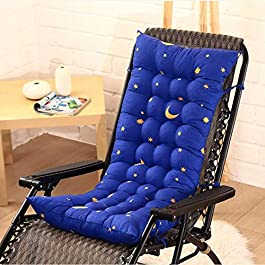 ACEMIC Épaissir Lounger Chaise Coussin Chaise À Bascule Coussin De Chaise en Rotin Pliable pour Bureau À Domicile Jardin…