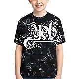 Photo de EDCVF Yo-B Bande Logo garçons T-Shirts, Adolescents nouveauté Hauts Mode Jeunesse t-Shirts, t-Shirt à col Rond pour Enfants/Filles/garçons