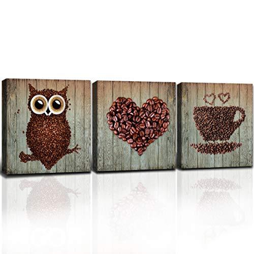 Owl and Coffee Bean Wall Decor Set