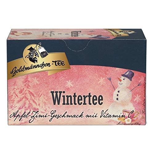 Goldmännchen Winter Tea Apple-Cinnamon-Vitamin C, 20 Single Wrapped Tea Bags