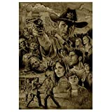 walking dead drawing poster - (23.6x35.4inch)5D DIY Diamond Painting Walking Dead Character Poster 3D Diamond Embroidery Cross Embroidery Mosaic Home Decoration Holiday Gift