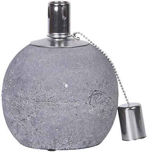 Rivanto 5 Stück Öllampe aus Beton, Größe S, Ø 13,7 x 17 cm, mit Docht-Abdeckung, Öl-Licht, Gartentisch-Deko, Gartenlicht