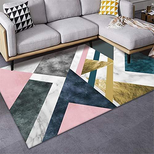 Jiaosa Dog Rug Pink Carpet salon pink messy geometric pattern anti-slip carpet durable Garden Rug Outside 100X160CM Baby Carpet Play Mat 3ft 3.4''X5ft 3''