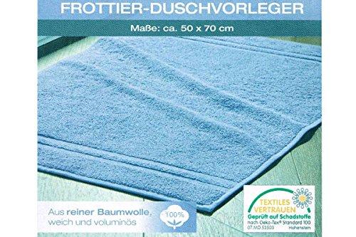 Miomare® Duschvorleger / Badvorleger 50 x 70 cm (Hellblau)