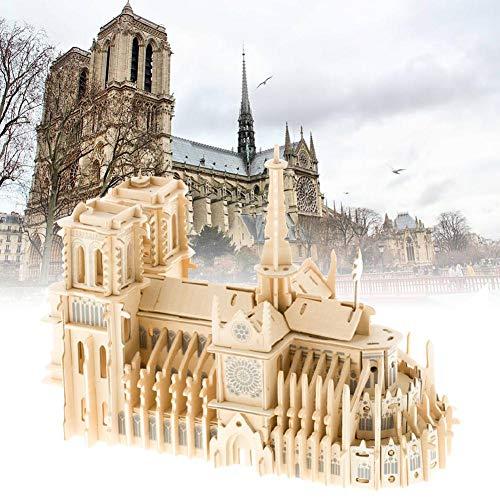 Juman634 Notre Dame de Paris 3D Puzzle de Madera ensamblado