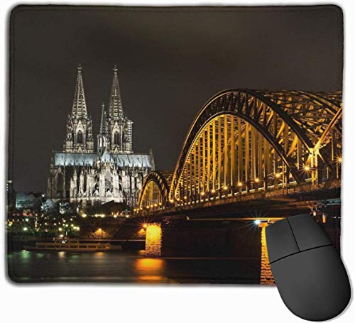 Köln Bei Nacht Gaming Mouse Pad Antislip Rubber Mousepad voor Computers Desktops laptop Mat 9.8