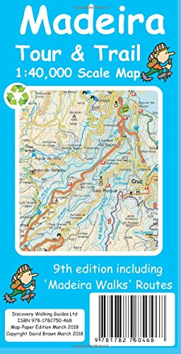 Madeira Tour & Trail Paper Map (9th ed)
