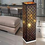 LED Tisch Leuchte Stoff Schirm Arbeits Zimmer Dekor Muster Lese Beistell Leuchte schwarz gold