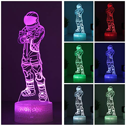Dark Voyager Night Light Fortnit Game 3D Visual Lamp Arylic Crystal RGB Changeable LED Mood Lamp for