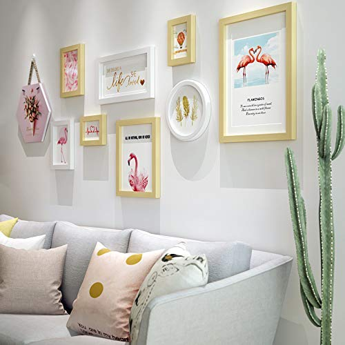 8Pcs Collage Picture Frame Fashion Gallery Wall Decor for Home Or Hotel, Two 11.6X15.5Cm, Two 15.7X20.8Cm, One 23X28cm, One 27.6X37.6Cm, One 18X33.2Cm, One 20.2X20.2Cm