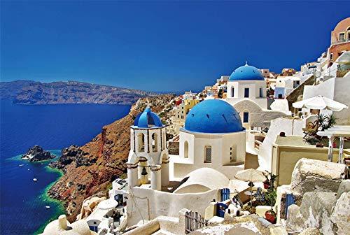 Hizoop 1000 Pezzi di Puzzle , Mar Egeo Puzzle ,Santorini Egeo Paesaggio Mare Puzzle, Giocattoli interessanti Regalo Personalizzato