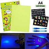 AGAKY Lavagna Luminosa per Disegnare Bambini Tavola da Disegno Fluorescente con Penna Magi...