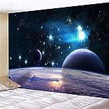 KHKJ Espacio Galaxy Cielo Paisaje Arte Tapiz Decoración de Pared Decoración del hogar A5 200x180cm