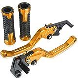 XDYCR Manillar Moto para Vespa Acuario 125 200 S125 S150 Motocicletas Mango Grips Handlebar GTS 125 250 300 Logo CNC CNC Break Break Bares De Embrague (Color : Azul)