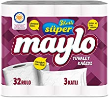 Süper Maylo 3 Katlı Tuvalet Kağıdı 32'Li, 1 Paket (1 X 32 Adet)