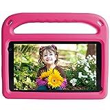 Tablet para Niños 7 Pulgadas Android 11 con 32 GB ROM 2 GB RAM, WiFi, Bluetooth, Control Parental, Play Store Instalado, Cámara Dual, Expansión MicroSD, con Estuche para Tableta (Rosa)