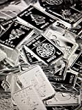 TEN One Gram .999 pure Silver Bars with random designs in a jewelry pouch (Original Version)