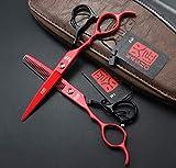 Crrs Profesional Zurdo Peluquería Tijeras Set Avanzado Hair Trim Izquierda Mano Tijeras Set Profesional Acero Inoxidable Peluquería Tijeras