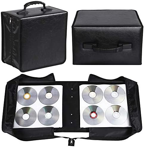 YAHEETECH 2 Set 400 Capacity CD DVD Storage Case Wallet Binder for Car Home Office and Travel product image