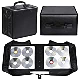 YAHEETECH 2 Set 400 Capacity CD DVD Storage Case Wallet Binder for Car Home Office and Tra...