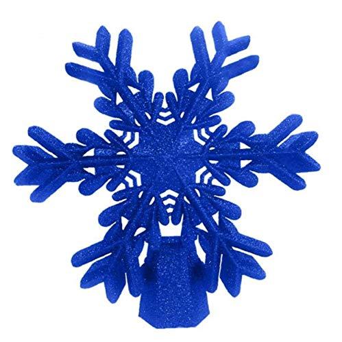 LAANCOO Proyector LED giratoria del Copo de Nieve de plástico Decoración de Navidad del Copo de Nieve del Brillo...