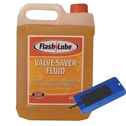 5,0 Liter FlashLube Valve Saver Fluid LPG Ventilschutz + Reifenprofilprüfer